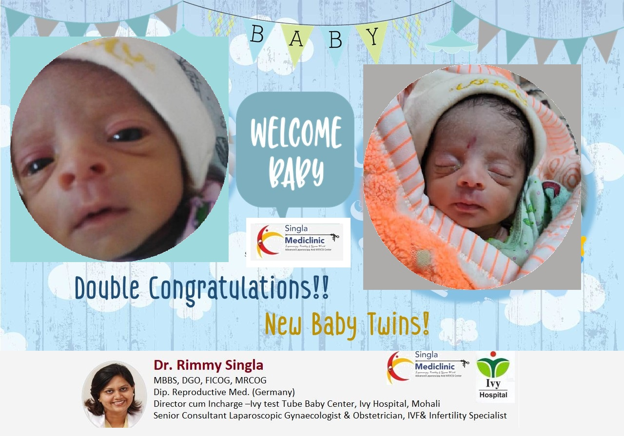 Success Story Double congratulations on your new baby twins!