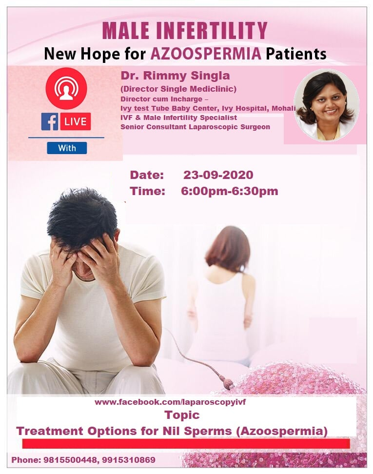 Facebook Live Session by Dr. Rimmy Singla on Azoospermia(Nil Sperms)