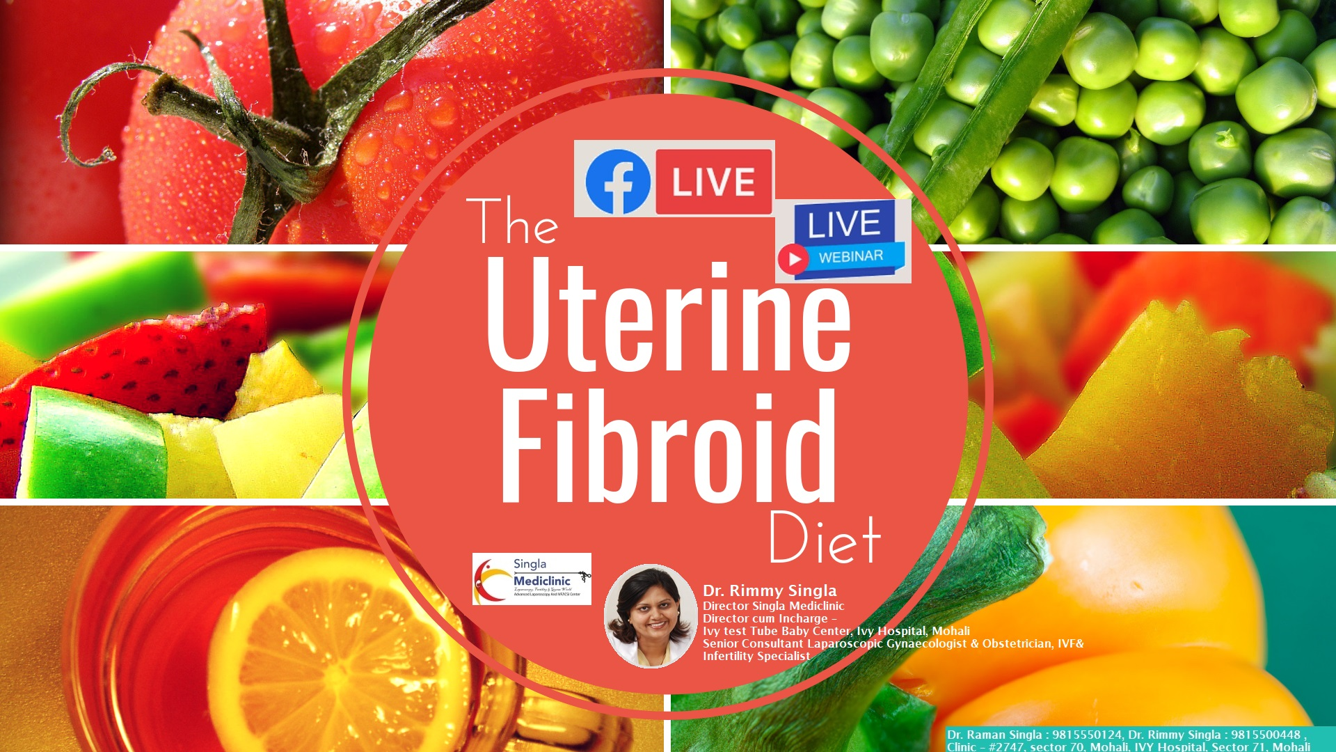 Role of Diet in fibroid facebook Live talk by Dr. Rimmy Singla